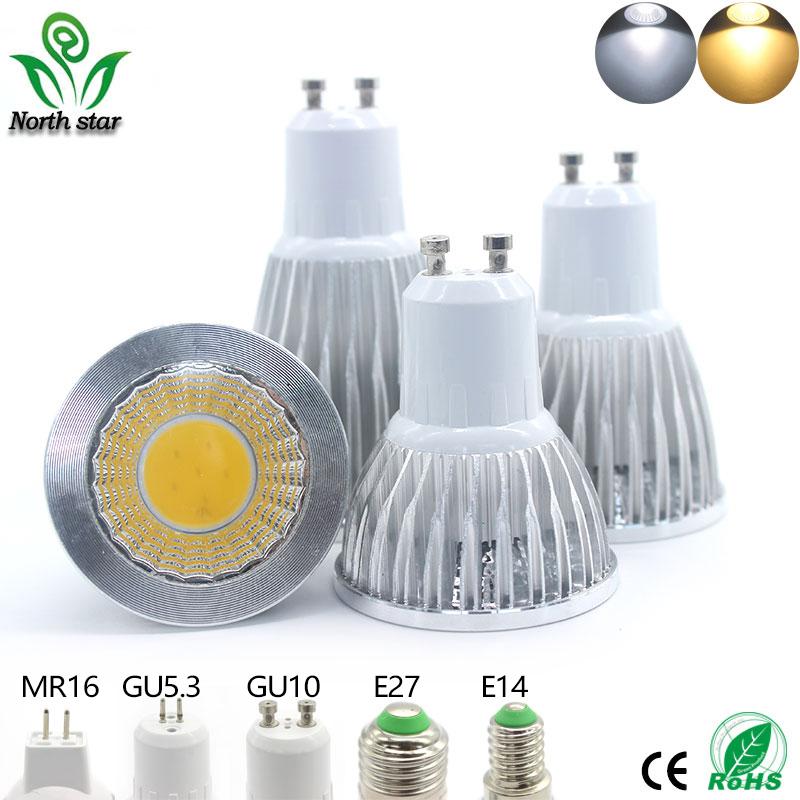 2016 New led bulb E27 E14 Lampada Led MR16 GU5.3 COB 9w 12w 15w Led Spotlight Warm Cold White MR16 12V led Lamp GU 5.3 220V(China (Mainland))
