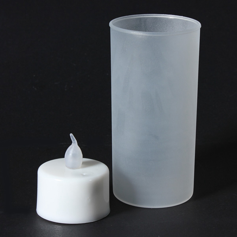 Flameless Battery 7 Colors Changing Flickering LED Tea Night Light Candles Tealights With Cup Lamp Bathroom Decoration(China (Mainland))