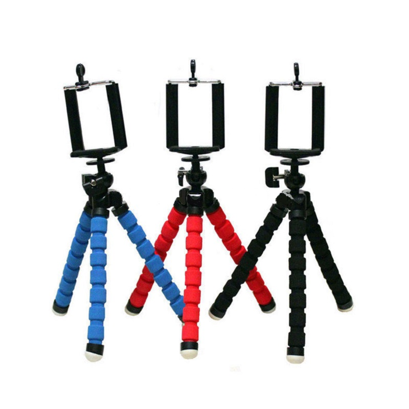 Newest fashion For iPhone Cell Phone Digital Camera Flexible Octopus Stand Tripod Mount + Cell Phone Holder(China (Mainland))