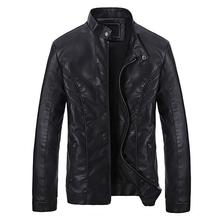2016 Cheap Wholesale Men's Leather Jackets Softshell Real Designer Men Winter Coats Leather Clothing For Men Outwear Coats S1767(China (Mainland))