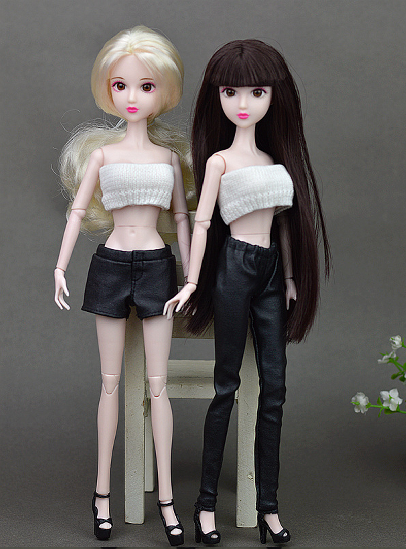 Excessive High quality Elastic Black Leather-based Bottoms Pants Trousers For Barbie Doll Garments Trend Outfit For 1/6 BJD Dolls Equipment