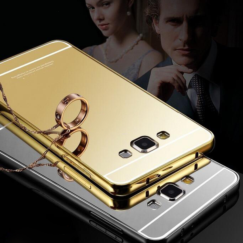 Luxury Metal Alloy Frame Acrylic Plastic Back Cover Case Samsung Galaxy A3 A5 A7 A8 A9 J1 J3 J5 J7 S6 S7 edge note 3 4  -  Aimee Sincerity Store store