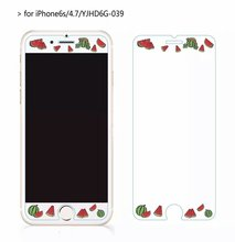 Cartoon Summer fruit watermelon Tempered Glass film Protective for iPhone 6 case 6S Front Films Cover Screen Protector
