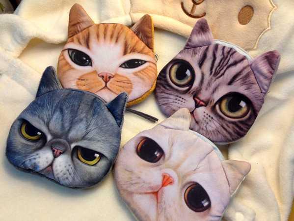 free shipping fashion coin purses cat change purse cute coin purse bag women wallets women clutch