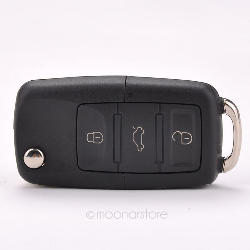 Folding Car Remote Flip Key Shell Case Fob For Volkswagen Vw Jetta Golf Passat Beetle Polo Bora 3 Buttons Key Case BMHM476#C9(China (Mainland))
