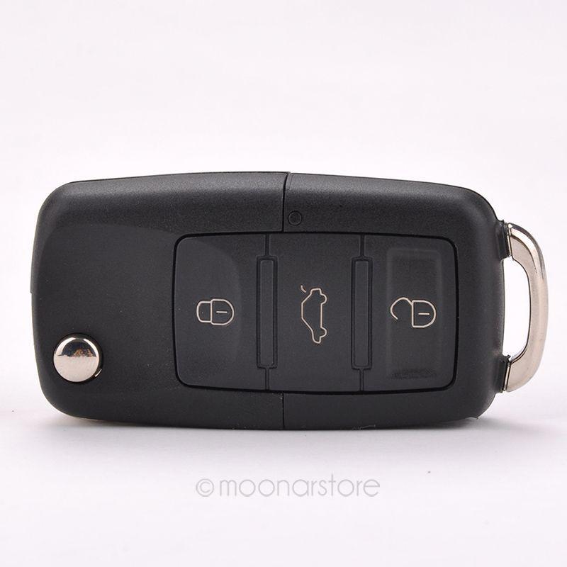 Folding Car Remote Flip Key Shell Case Fob For Volkswagen Vw Jetta Golf Passat Beetle Polo Bora 3 Buttons Key Case BMHM476#C9(China (Mainland))