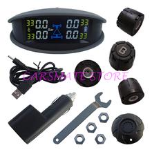 Universal SPY Car TPMS Car Tire Pressure Monitoring & Tire Temperature Monitoring With Colorful LCD Monitor & External Sensors(China (Mainland))