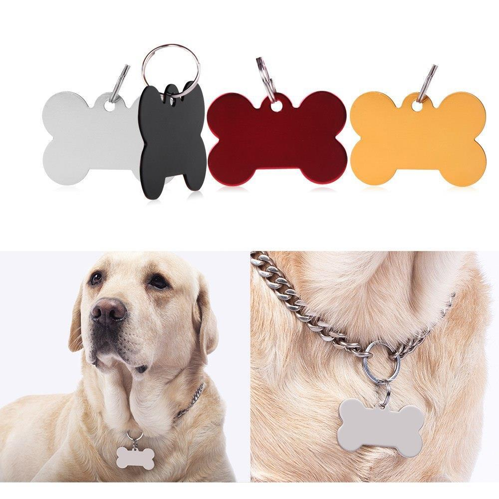 Personalized Pet ID Tags Dog Cat Puppy Animal Name Charm Tag with Ring(China (Mainland))