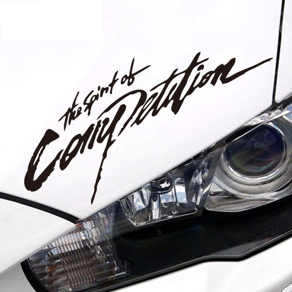 The spirit of competition decoration car lamp decor stickers and decals, converted light eyebrow car styling for Mitsubishi(China (Mainland))