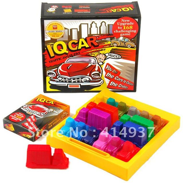 NIbobo IQ CARD  Traffic jam puzzle New upgrade to 168 challenging game Intelligence toy  Educational toy Family games