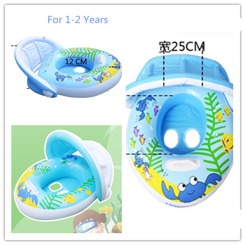 2015 Summer Inflatable Boat For Kids 1-2 Years With Handle For Baby Swimming Training With Seat For Children Sit In Kids Pool(China (Mainland))