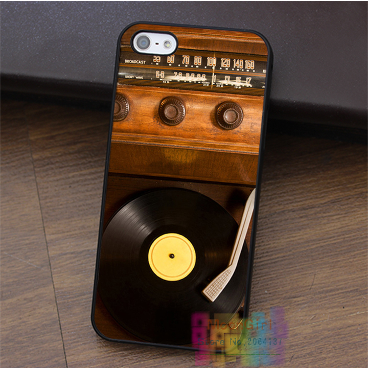 Old School Vintage Record Player Vinyl Radio fashion cell phone case for iphone 4 4s 5 5s 5c SE 6 6s & 6 plus & 6s plus #LI2379(China (Mainland))