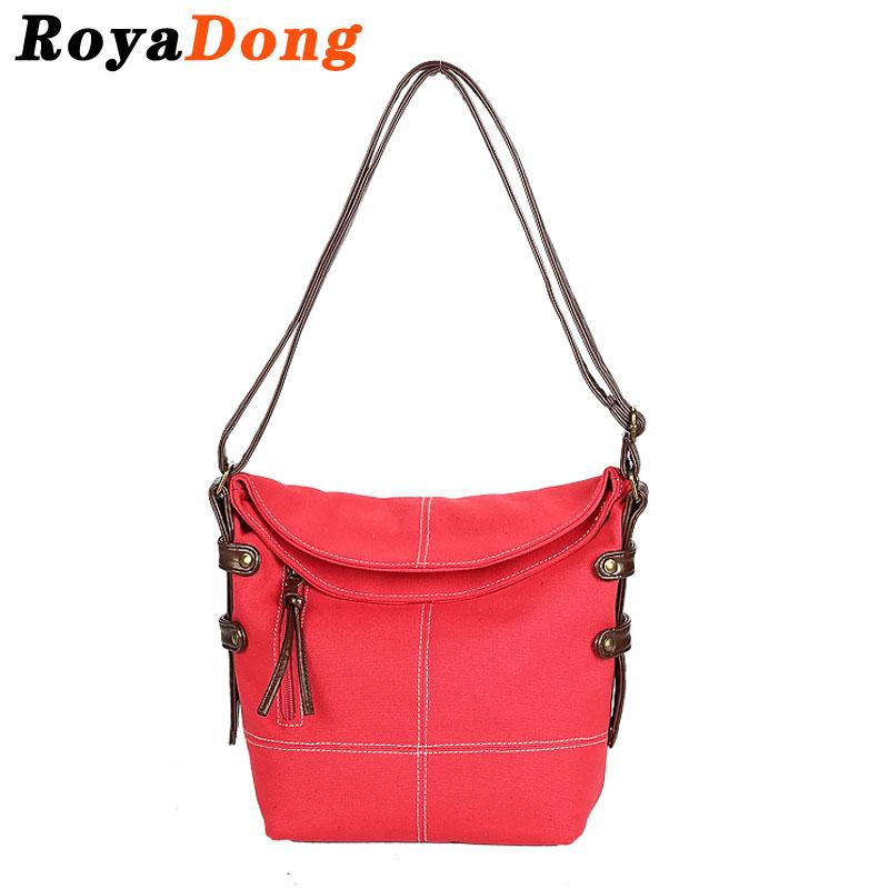 RoyaDong Brand 2016 New Women Messenger Bags Canvas Fashion Small Bucket Bag Ladies High Quality Shoulder Crossbody Bags Bolsos<br><br>Aliexpress