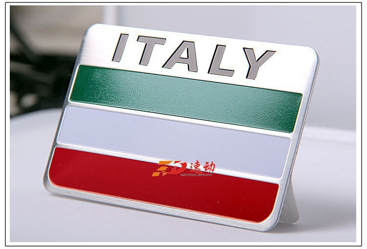 New style 3D Italian Flag sticker the car whole body decoration accessories sticker for Fiat Maserati(China (Mainland))