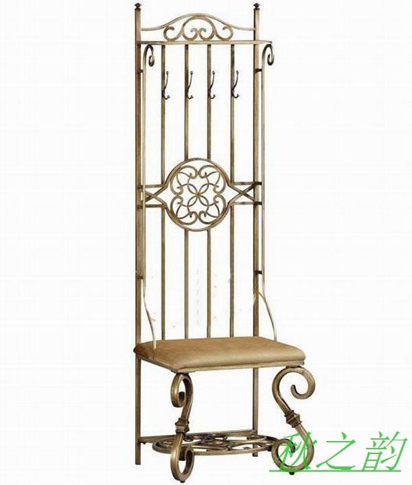european new black white leather chairs wrought iron