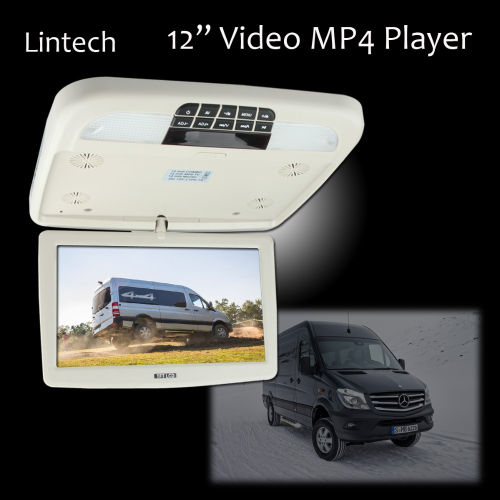"""Free Shipping 12"""" 720P Overhead Flip Down LCD Monitor MP4 Player Car Video Entertainment system(China (Mainland))"""