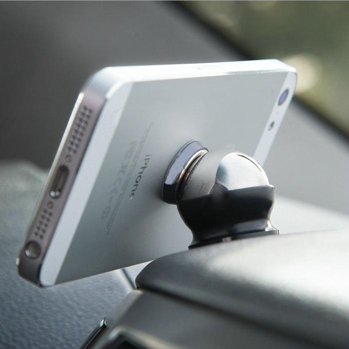 A521004 Magnetic 360 degree Steelie Magnetic Car Dashboard Mobile Mount Car Phone Holder Steelie Car Kit Magnet phone holder(China (Mainland))