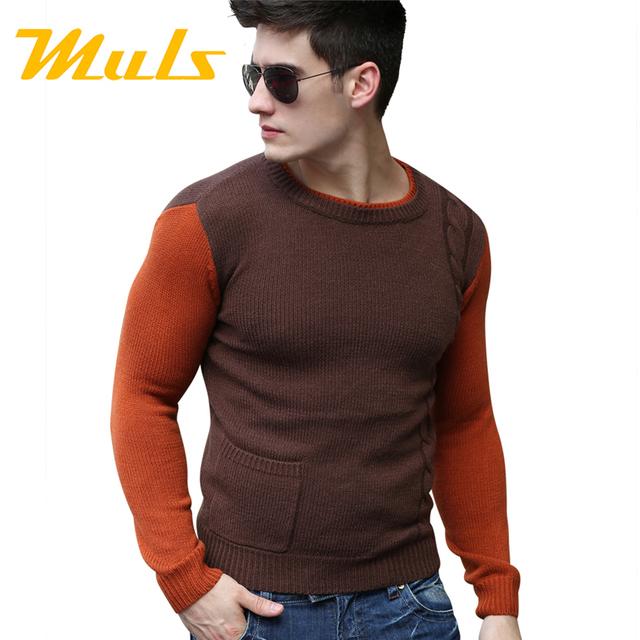 Свободного покроя платье мужчины свитера перемычки одежда slim fit пуловеры о-образным ...