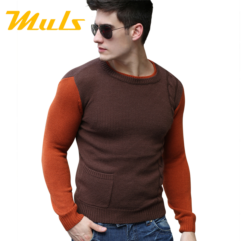 Casual Dress Men Sweaters Jumpers Clothing Slim Fit