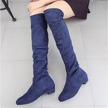 Kadın Yüksek Çizmeler Ayakkabı Moda Kadınlar Diz Çizmeler Üzerinde Yeni Sonbahar Kış Akın Botas Feminina Uyluk Yüksek Çizmeler bayanlar(China)