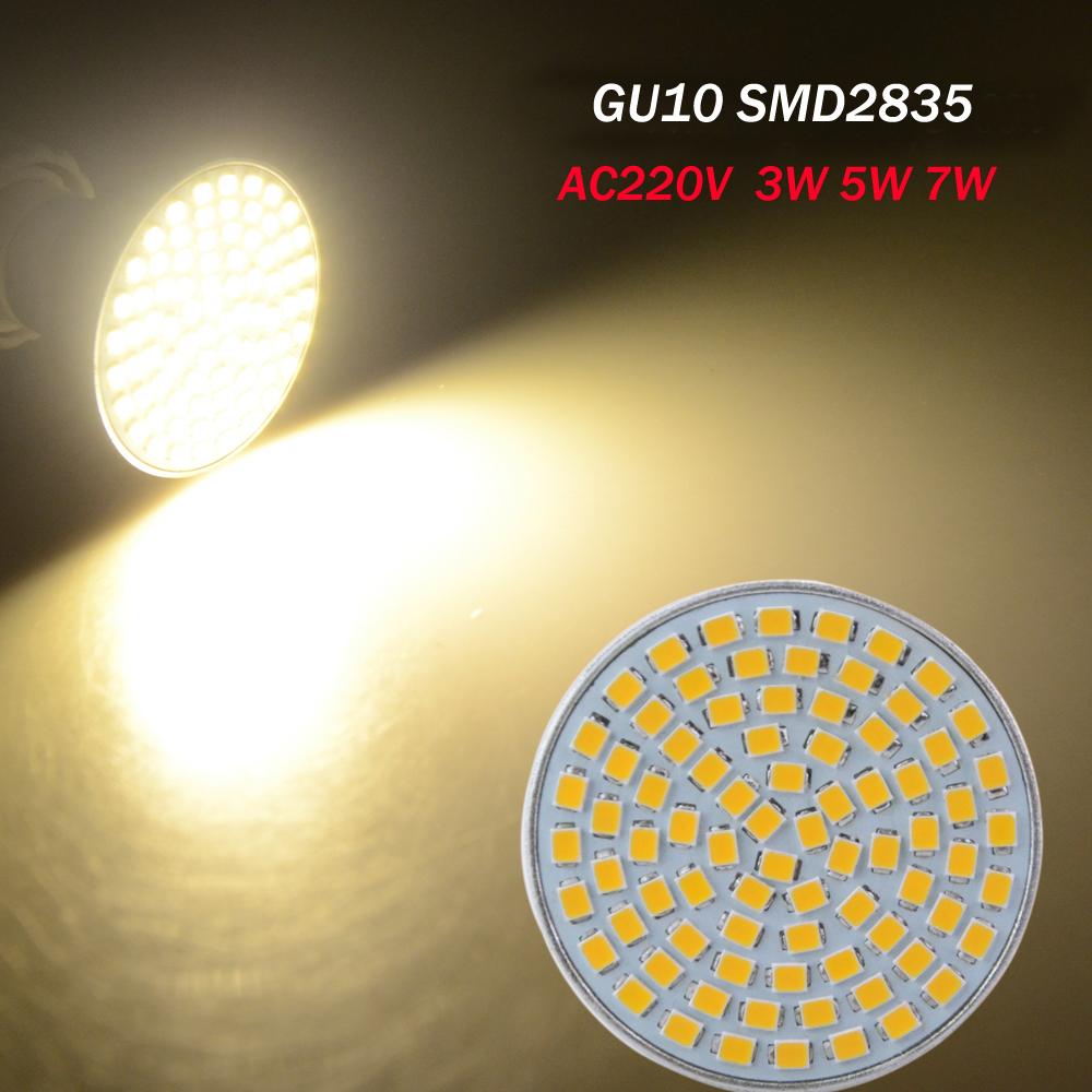 gu10 lampada led lamp 220v 2835smd ampoule led spotlight. Black Bedroom Furniture Sets. Home Design Ideas