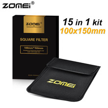 15in1 Zomei 100x150mm Graduated ND2 ND4 ND8 ND16 + Full ND2 ND4 ND8 + 8*Graduated Color Lens Filter Kit for Cokin Z 100mm*150mm(China (Mainland))