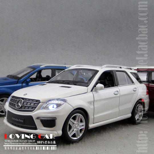 1:32 acousto-optic version of color Pomeisaikesi Mercedes Benz BENZ ML63 AMG alloy warrior display models(China (Mainland))