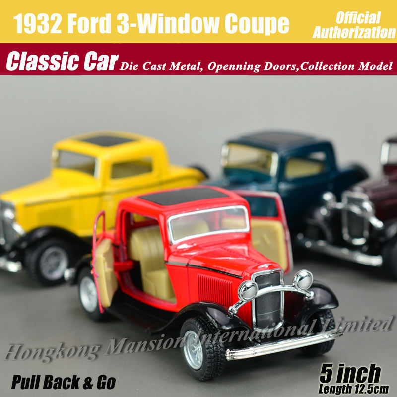1:36 Scale Diecast Alloy Metal Classic Car Model For 1932 Ford Three-Window Coupe Collectible Model Collection Toys Car(China (Mainland))