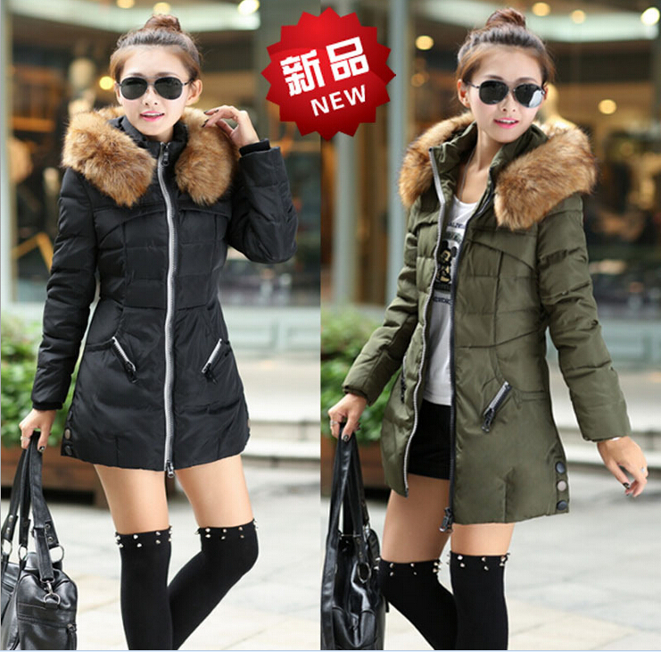 2015 Winter Women Parkas Female Thicken Jacket Coat Long Faux Fur Hooded Slim Warm Overcoat Casual Plus Size M-4XL