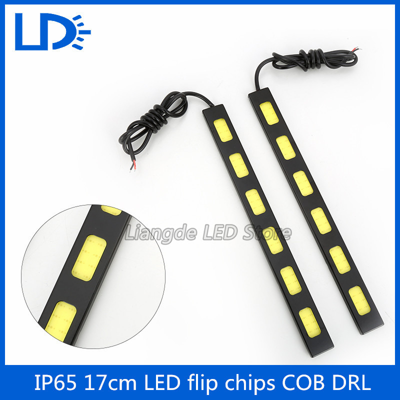 17cm COB Daytime Running Light 2PCS/1SET High quality DRL Car Styling LED Light Source 12V Driving Fog Lamp Running Light(China (Mainland))