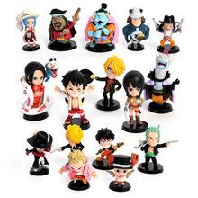 Anime One Piece Toys PVC Acton Figures Model Collection Toys Dolls16pcs/set 5~9cm
