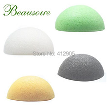 4pcs/lot 100% Natural Oil Control Face Cleaning Dry Konjac Sponge for bathing or body shower 4 Colors Available