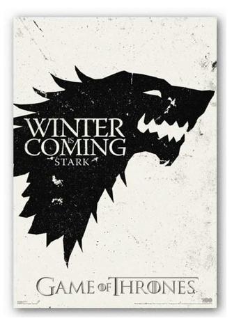 CustomGame of Thrones Winter Pop Classic Stylish Nice Home Decor Retro MoviePoster(50x75cm) Wall Sticker Free Shipping IJ9-93946