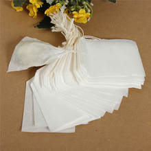 Best Price  50Pcs Empty Teabags String Heat Seal Filter Paper Herb Loose Tea Bags(China (Mainland))