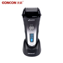 Super Fast Charged Shaving Machine 4-blade Cutting System Rechargeable LCD Display Electric Shaver afeitadora electrica(China (Mainland))