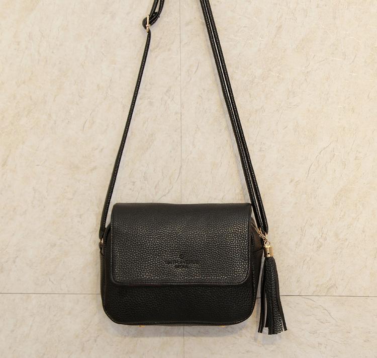 Cute Women Bag Leather Luxury Handbags Ladies Black Purse Small Bag Fringe Cheap Messenger Bag Designer Case Crossbody Bags(China (Mainland))