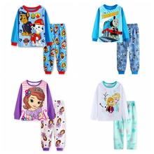 Buy New Design Hot Printed Suits Boys Thomas Pajamas set Baby Cartoon Pijamas Long Sleeve Children Clothing set Kids Sleepwears for $39.98 in AliExpress store