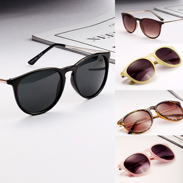 Sun Glasses for Women Men Retro Round Eyeglasses Metal Frame Leg Spectacles 5 Colors Sunglasses(China (Mainland))