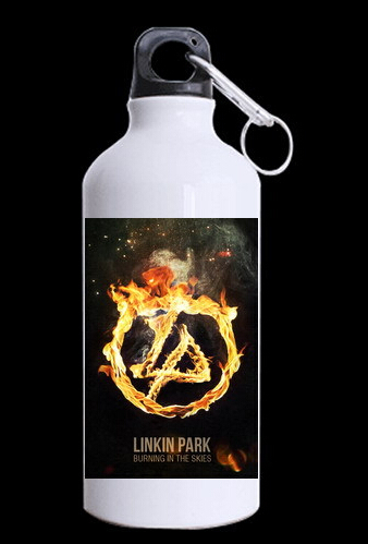 Hot Sale Your Style Linkin Park Band Printed Sports 13.5 OZ reusable Eco-friendly custom water bottle aluminum(China (Mainland))