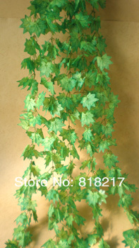 5 stems Encryption type Maple Leaf IVY 600 leaves Hanging rattan artificial plants Trailing Plants Home Garden Decoration(China (Mainland))