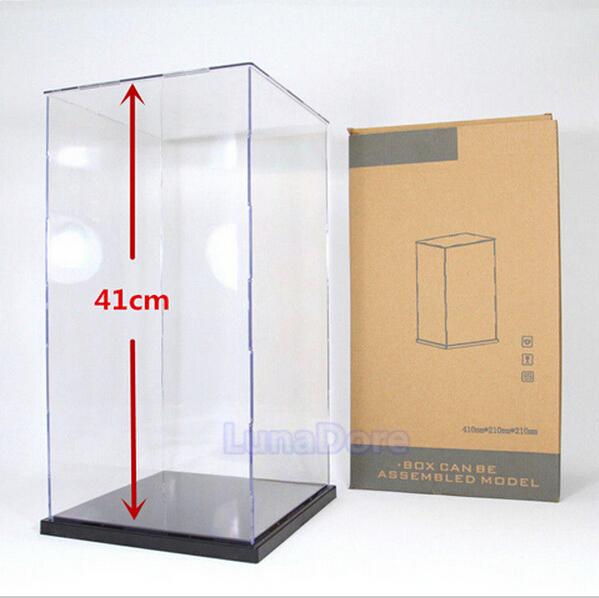 "US warehouse, US shipments,Self-Assembly Acrylic/Plastic Display Box Showcase 16.1""x8.2x8.2""(China (Mainland))"