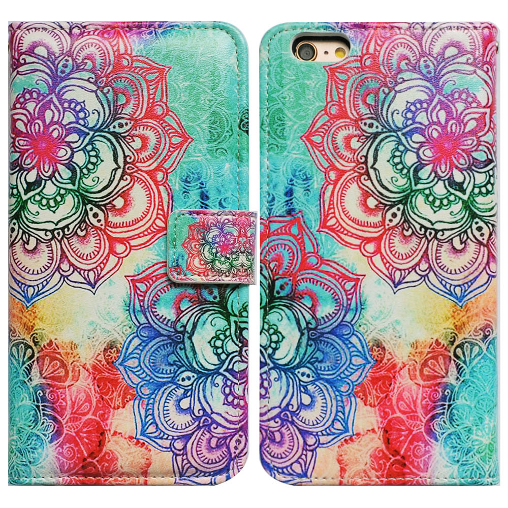 Bcov Mandala Pattern Wallet Leather Cover Case For iPhone 6 Plus/6S Plus 100019677