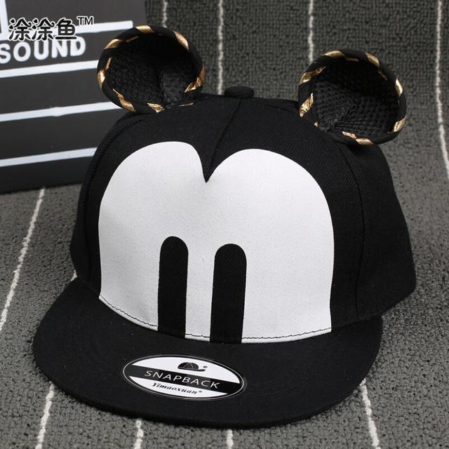 Новые дети Snapback микки бейсболка с ушами Casquette смешные шляпы хип-хоп Snapbacks ...