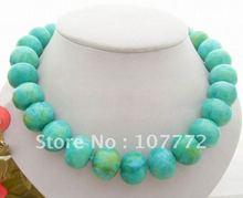Beautiful 20mm Chrysocolla Necklace free +shippment(China (Mainland))
