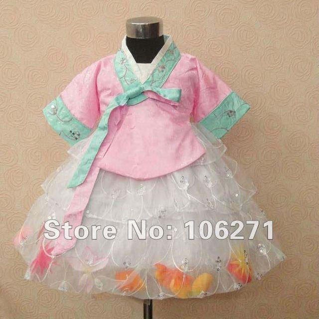 Free Shipping 2013 Chinese Performance Photography Costumes Clothing,Children's Princess Hanbok Dress Set,Cheongsam kimono Dress