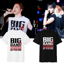 Buy Right kpop kpop zhi-long BIGBANG GD short sleeve T shirt Women clothing Long k pop tops lace shirt cotton summer tees for $13.97 in AliExpress store