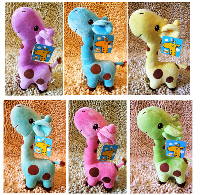 NEW soft plush stuffed animal doll Baby Favor Play Toy Birthday Wedding Animal Dolls Gift Giraffe more than 10 colour(China (Mainland))