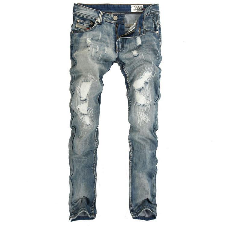 2016 brand mens fashion jeans men pants perfumes 100 original jeans men hip hop belts for men hole white straight jeans MYA0009(China (Mainland))