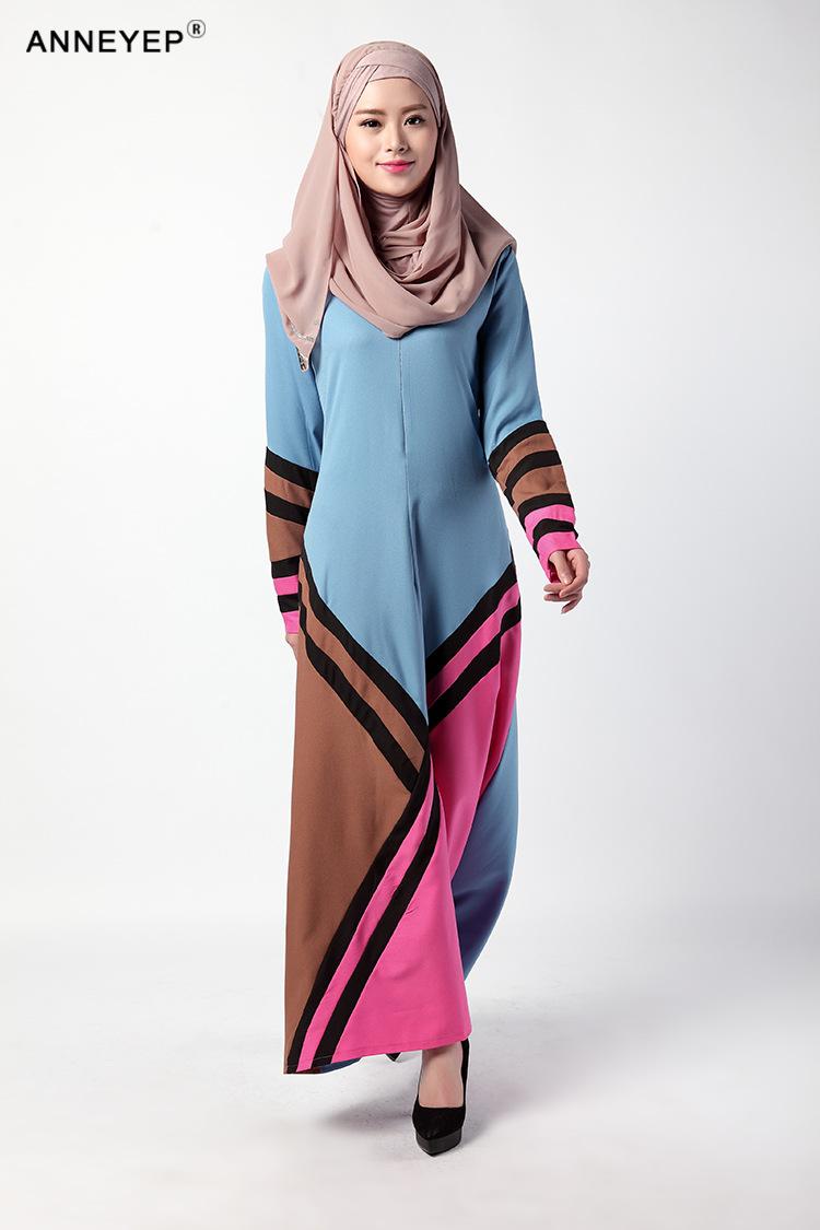 2016 New Arrival Islamic Muslim Long Dress For Women Malaysia Abayas Anneyep Printed Flowers Kaftan Maxi Llength 143sleeve 64shoulder 38bust 100waist 96hips104hem184