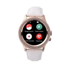 D2 женщин умные часы мода алмаз кожаный ремешок Reloj Bluetooth шагомер трекер монитор Smartwatch разъема для смартфонов